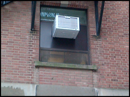air conditioners on a building